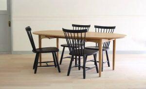 ふるさと納税のダイニングセット(Oval table & Lilla Åland)