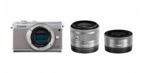 ふるさと納税で貰えるミラーレスカメラ EOS M100 ダブルレンズキット(グレー)