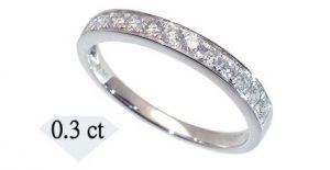 ふるさと納税の指輪(天然ダイヤモンドリングハーフエタニティタイプ 0.3カラット)