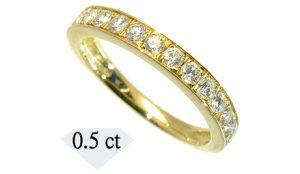 ふるさと納税の指輪(天然ダイヤモンドリングハーフエタニティタイプ 0.5カラット)