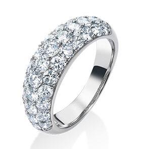ふるさと納税の指輪(ARC-EN-CIEL PTダイヤリング)