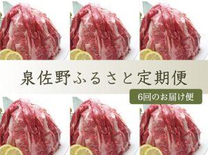 泉佐野の黒毛和牛ふるさと定期便 【6ヶ月】